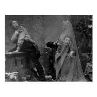 Vintage Victorian Spirit Photography Postcard