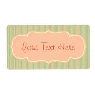 Vintage Victorian Stripe Design Label Customize