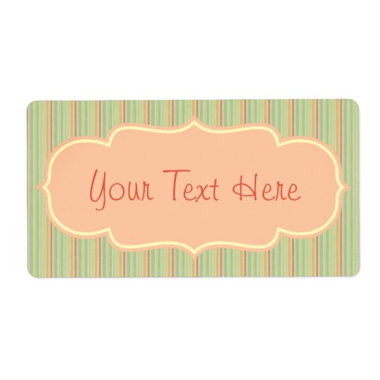 Vintage Victorian Stripe Design Label Customize Shipping Label