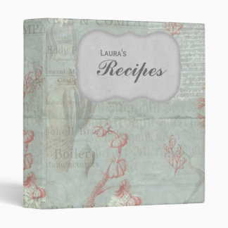 Vintage Victorian Style Personalized Recipe Binder