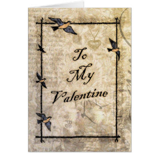vintage victorian style Valentine Card