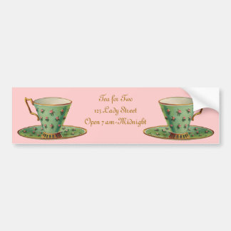 Vintage Victorian Tea Cup Bumper Sticker