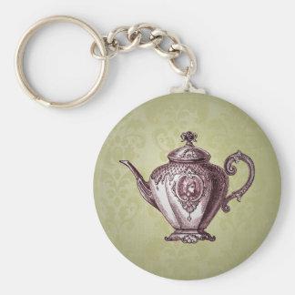 Vintage Victorian Teapot Keychain