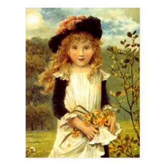 VINTAGE VICTORIAN THE DAFFODIL GIRL POSTCARD