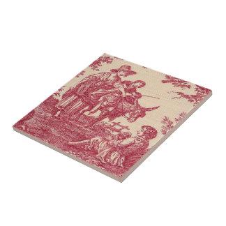 Vintage Victorian Toile Ceramic Tile