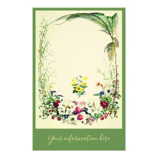 Vintage/victorian tropical stationary. stationery