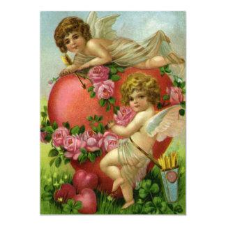 Vintage Victorian Valentine Day Cherubs Invitation