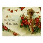 Vintage Victorian Valentines Cherub Postcard