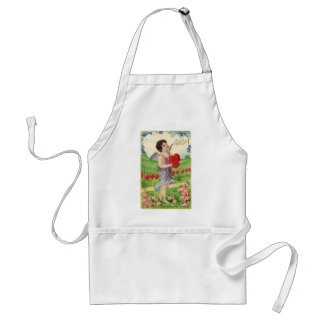 Vintage Victorian Valentines Day, Angel with Heart Standard Apron