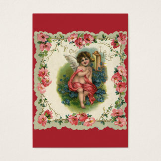 Vintage Victorian Valentine's Day, Cherub on Phone Business Card