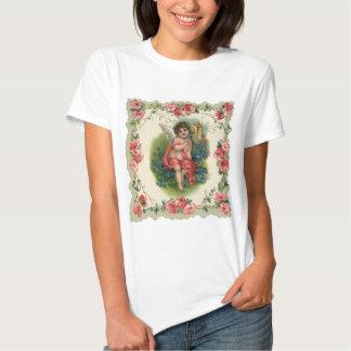 Vintage Victorian Valentine's Day, Cherub on Phone Shirts