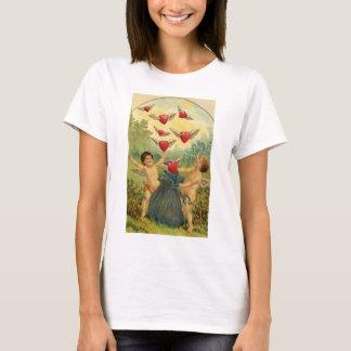 Vintage Victorian Valentine's Day, Cherubs Hearts T-Shirt