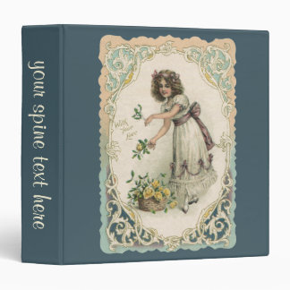 Vintage Victorian Valentine's Day, Girl with Roses Binder