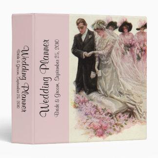 Vintage Victorian Wedding Ceremony Bride and Groom 3 Ring Binder
