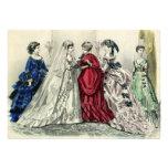 Vintage Victorian Wedding Party, Bride Bridesmaids Invitation