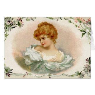 Vintage Victorian Woman Card