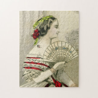 Vintage Victorian Woman with Fan Photo Puzzle