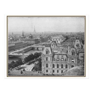 Vintage view Paris, France Postcard