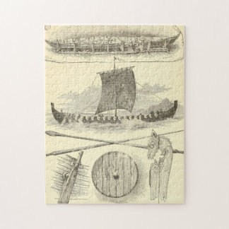 Vintage Vikings Artwork and Illustrations Jigsaw Puzzle