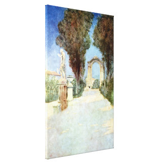 Vintage Villas & Gardens: Villa Scassi Canvas Print
