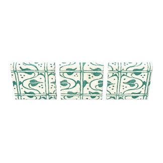 Vintage Vines Leaf Green Stretched Canvas Print