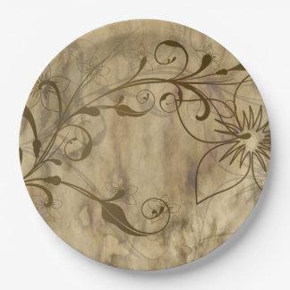 Vintage vines on paper plates