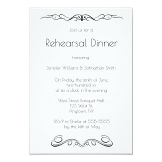 Vintage vines rehearsal dinner invitations
