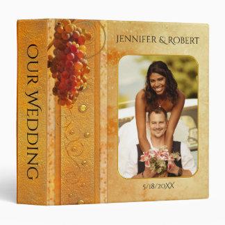 Vintage Vineyard or Wine Theme Wedding Album Vinyl Binder