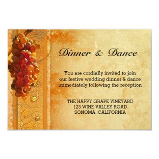 Vintage Vineyard Wedding Insert Invitation
