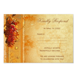 Vintage Vineyard Wedding RSVP Card