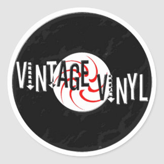 Vintage Vinyl Logo Sticker