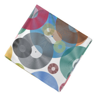Vintage Vinyl Music Bandana