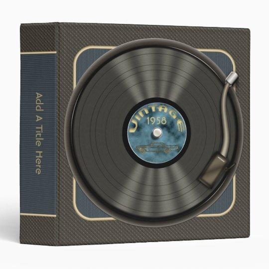Vintage Vinyl Record Binders