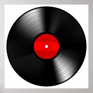 Vintage Vinyl Record Poster
