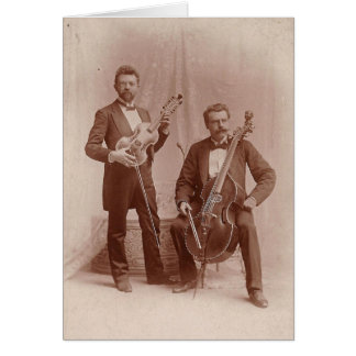 Vintage Viola D'Amore And Viola Da Gamba Duo Card