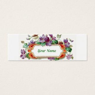Vintage Violet Calling Card Skinny Business Card