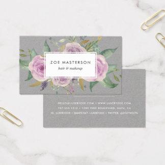 Vintage Violet Floral Business Card