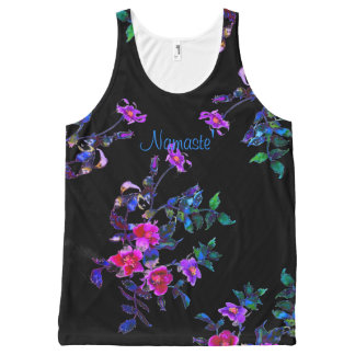 Vintage violet rose -namaste All-Over-Print tank top