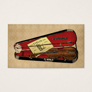 Vintage Violin Illustration Business Card