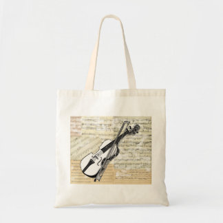 Vintage Violin Music Bag