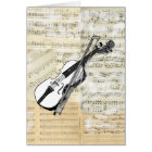 Vintage Violin Music Card
