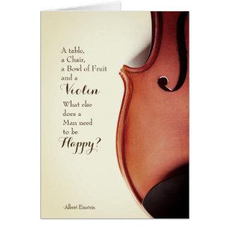 Vintage Violin Quote Card