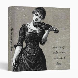 Vintage Violinist Binder
