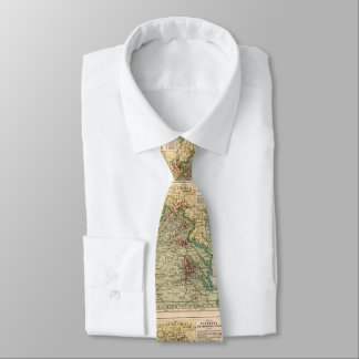 Vintage Virginia Civil War Battlefield Map (1912) Tie