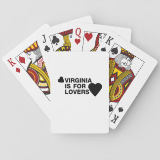 Vintage Virginia Is For The Lovers Gift Playing Cards