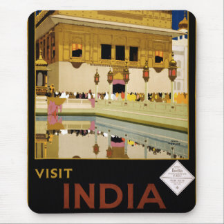 Vintage Visit India Golden Temple Travel Mouse Pad
