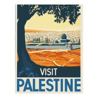 Vintage Visit Palestine Travel Postcard