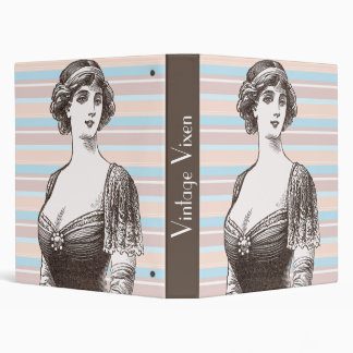 Vintage Vixen - Beautiful Lady 1914 Illustration Vinyl Binder