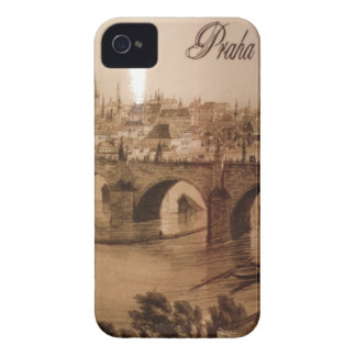 vintage Vltava river in Prague city iPhone 4 Case-Mate Case