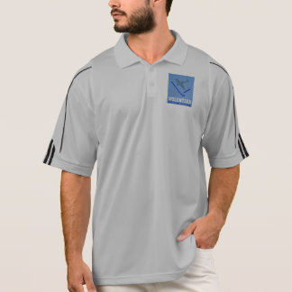 Vintage Volunteer Civillian Defense WPA Poster Polo Shirt